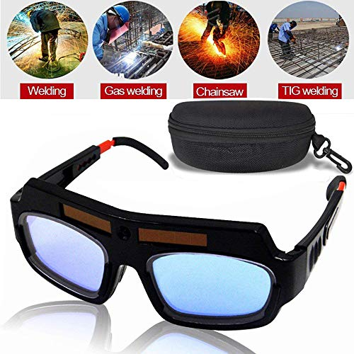 LEATBUY Welding Glasses Mask Helmet Eyes Goggles, Solar Auto Darkening Welding Goggle Safety Protective Eyes Goggle, Professional PC Lens Welder Soldering Mask Anti-Flog Anti-Glare Goggles