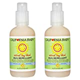 California Baby Plant-Based Natural Bug Repellant Spray (6.5 fl. oz.) Skin Safe, Plant-Based Formula for Babies, Toddlers, Kids   Outdoor Protection from Mosquitoes (2 Pack)