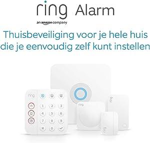 5-delige Ring Alarm-set (2de generatie) van Amazon - thuisbeveiligingssysteem met optionele geassisteerde bewaking. Geen langetermijnverplichtingen
