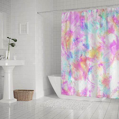 MyDaily Abstrakte Batik-Duschvorhang, wasserdicht, Polyester, mit Haken, 152 x 183 cm