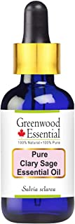 Greenwood Essential Pure Clary Sage Essential Oil (Salvia sclarea) 100% Natural Therapeutic Grade Steam Distilled 100ml (Pack of 2) (6.76 oz)