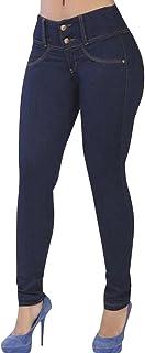 6b0f7b5e273 ZhuiKun Mujer Flacos De Cintura Alta Leggings Elásticos Skinny Slim  Pantalones