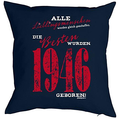 Dekokissen mit Füllung, Couchkissen, Kissen zum Geburtstag - Lieblingsmenschen... die Besten wurden 1946 geboren!