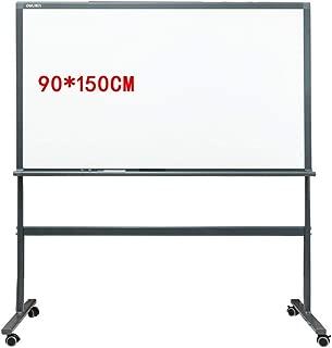 YuYzHanG Pizarra Pizarra Tiene Cuatro Ruedas Paneles De Vidrio Templado La Oficina del Drenaje Elevada Permanentes De Ayuda For Escribir Pizarra Vertical (Color : Blanco, tamaño : 90x150cm)