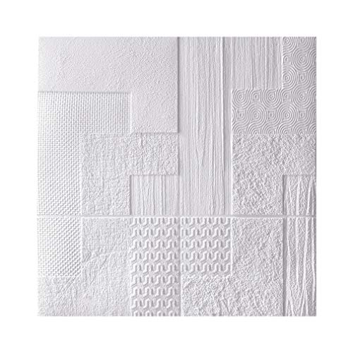 HUSTLE 5 Pack EPS Polystyrene Panels 70X70cm 3D Wall Cladding Brick Three-Dimensional Embossing High Elastic Sound Insulation Waterproof And Moisture-Proof TV Background Wall Living Room