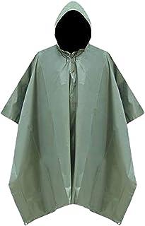 [キャプテン・ケイ] 3way レインポンチョ アウトドア用 レインコート 携帯用 収納袋付き 男女兼用