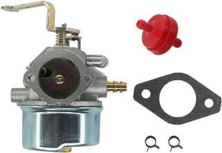 AISEN Carburetor for Coleman Maxa 5000 ER Plus 10hp Tecumseh Powerbase Powermate Generator PM0525202 PM0525312 Carb Gasket Fuel Filter Clamp