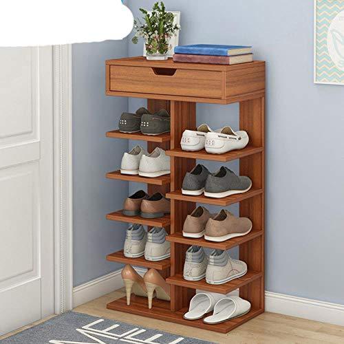 Zapatero de doble hilera o muebles de madera para el hogar para sala de estar Zapatero con caj¨n-8