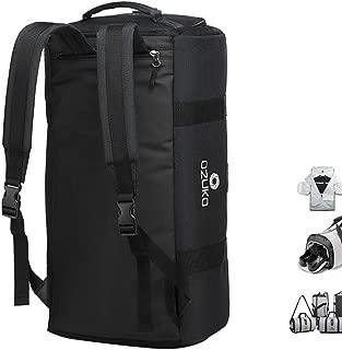Gym Bag Backpack, 4 in 1 Carry-on Garment Bag Large Duffel Bag Suit Travel Bag Weekend Bag Flight Bag Overnight Bag with Shoes Compartment… (Black)