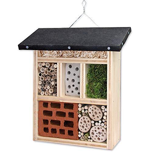 matches21 Insektenhotel Bausatz Nützlingshotel aus Massiv Holz zum Selbstbefüllen für Kinder Lehrmittel Werkset Bastelset ab 12 Jahren
