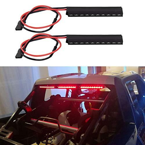 INJORA RC LED Lights 2pcs RC Luz de Freno exaltada Lámpara de Parada para 1/10 RC Crawler Axial SCX10 90046 Espectro RR10 Traxxas TRX-4 D90 Tamiya (62mm)