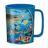 3D LiveLife Bicchiere - Squalo del Reef di Deluxebase. Bicchiere in plastica Oceano 3D Lenticolare. Bicchieri in plastica da 300ml per bambini con grafica originale del noto artista David Penfound
