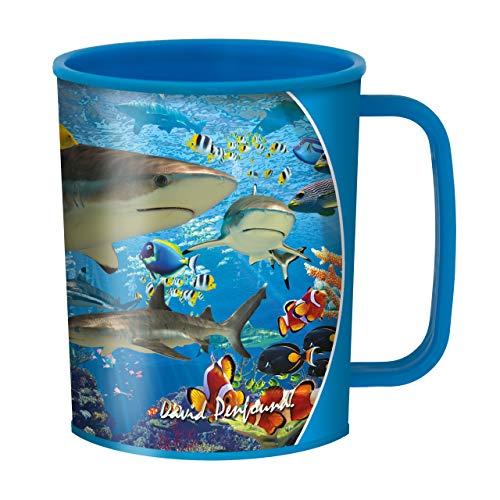 taza del filón del tiburón de 3D LifeLife de Deluxebase. Aturdir las tazas de los niños del diseño del tiburón 3D.