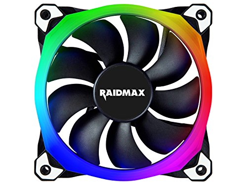 Raidmax NV-R120B Airflow MSI Aura Sync Adjustable Quiet Color LED RGB Case Fan for CPU Coolers and Radiators for PC Computer Cases