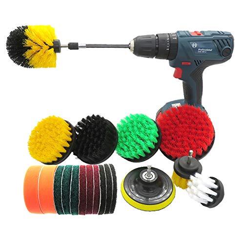MAATCHH Conjuntos de Limpieza Pincel de perforación de 20 Piezas Aplique Scrubber Set Scrub Scrub limpiadora Kit de Cepillo para Limpiar Baño (Color : Multi-Colored, Size : Free Size)