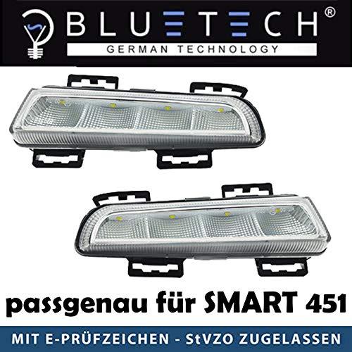 LED Tagfahrlicht 451 Fortwo 2012-2014 TFL E-Prüfzeichen