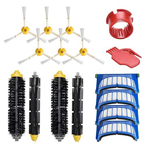 Kit Pièces Accessoires Rechange Pour iRobot Roomba 600 série 600 605 610 615 616 620 625 630 631 632 639 650 651 660 670 680 681, Brosses Filtres de Remplacement