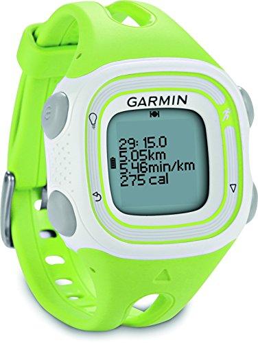 Garmin Lauf-Uhr Forerunner 10 Reloj GPS Producto refurbish, Blanco y Verde, Talla única