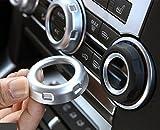 Agodor 5 unids / set ABS Mate Cromo Volumen Perillas de Aire Acondicionado Botón Recortar Accesorios Interior Del Coche Pegatinas Piezas de Decoración