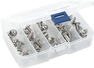 50 PCS Flanged Button Head Socket Cap Screws, M6-1.0 x 12mm, 16mm, 20mm, 25mm, 30mm, Stainless Steel 304, Bright Finish