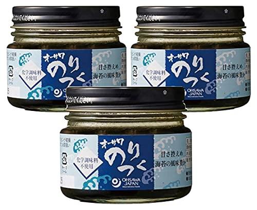無添加国産のり佃煮100g×3個★ 宅配便 ★ 砂糖不使用・化学調味料不使用★ 三重産 青海苔 使用 、磯の風味豊かな甘さをおさえた自然な味わいです。