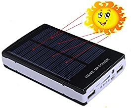 iMeshbean Black 50000 mAh Dual USB Portable Solar Battery Charger Power Bank for Cell Phone