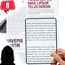 Enhon 3X Page Magnifier 7 x 4.7 Inch Magnifying Sheet Fresnel Lens Page Magnifying Glass for Elderly and People with Low Vision Reading Small Patterns, Maps and Books (8 Pieces)