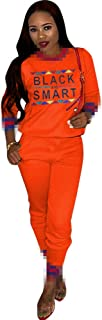 2 Piece Sets for Women- Fashion Letter Print Tracksuits Set Bodycon Sweatsuit Jumpsuit
