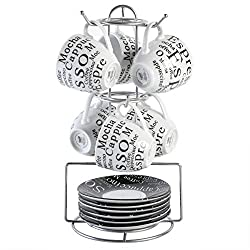 top rated Gibson Espresso Expressions 13 Piece Set with Stand, White – 2021