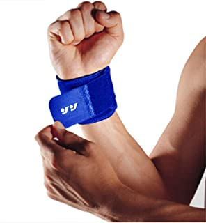 Wrist Brace Compression Wrist Strap Support for Carpal Tunnel, Arthritis, RSI, TFCC Tear, Tendonitis and Sprains for Weak and Sore Wrists by Velpeau Adjustable (Blue 2Pack)