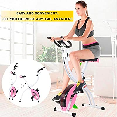 CCTO (US Shipping) Folding Exercise Bike,Indoor Cycling Foldable Magnetic Erection Bike Stationary Bike with Tablet Stand,The Perfect Workout Bike for Home Use for Men, Women, and Seniors