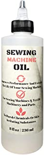 Stainless Sewing Machine Oil - 8 Oz - Custom Formulated, Compatible with Singer, Bernina, Kenmore, and Other Commerical Se...