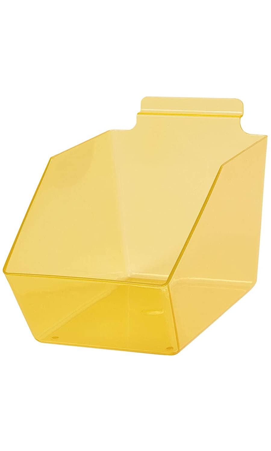 """Clear Yellow Plastic Dump Bin for 6"""" X ½âPurchase Slatwall Outlet ☆ Free Shipping - 5"""