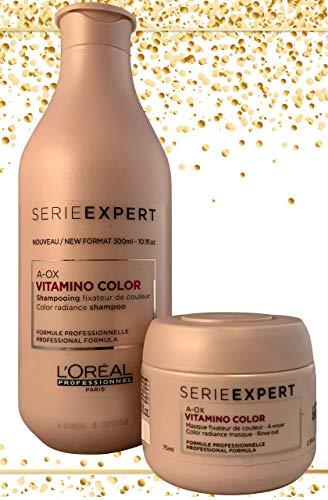 pas cher un bon L'OREAL – Shampooing Vitamino Color A-OX 300 ml, Masqué Vitamino Color A-OX 75 ml