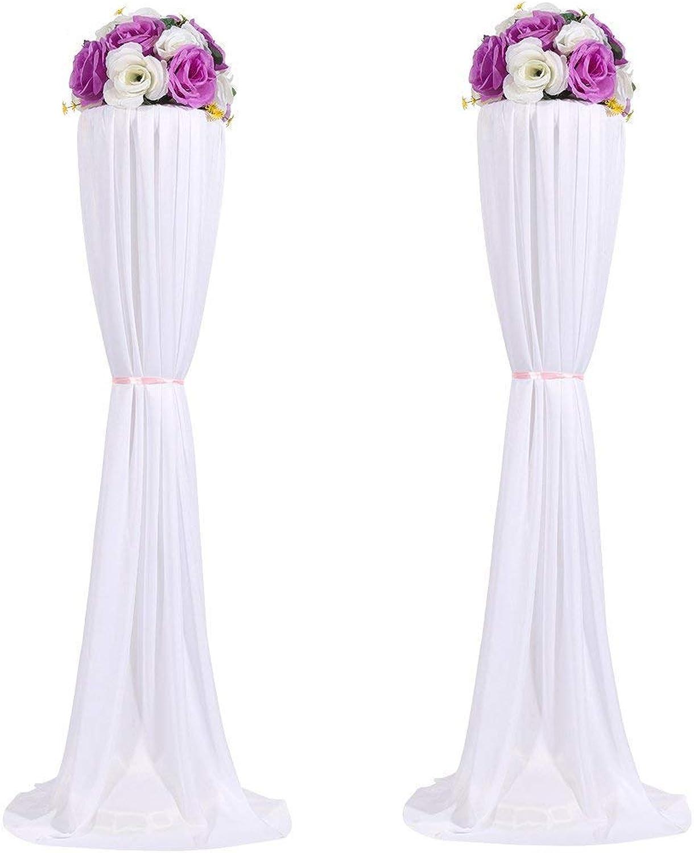 Amon Tech 8PCS Flower Column Stands Elegant Wedding Flower Column with Cloth Cover for Wedding Party Decoration (120cm)