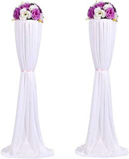 Amon Tech 8PCS Flower Column Stands Elegant Wedding Flower Column with Cloth Cover for Wedding Party Decoration (120cm)