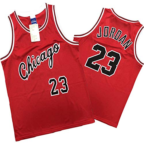 HTKJG Bulls - Camiseta de baloncesto para hombre, modelo 23 de Jordans 23 # Swingman Champion Offset Plate Baloncesto Uniforme, cómodo y transpirable ropa deportiva de malla (S-XXL) rojo-XXL