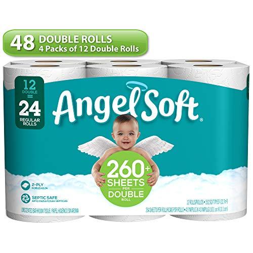 Angel Soft Angel Soft Toilet Paper, Lavender, 48 Double Rolls, 48 = 96 Regular Rolls, 48 Count