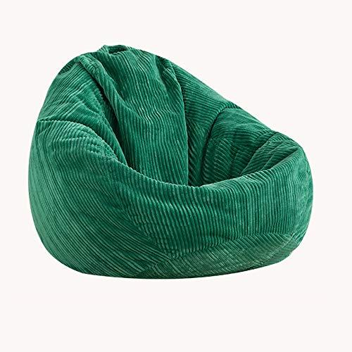 XGGYO Bean Bag Cover Silla Hi-Rest, Puff de Pera para Niños y Adultos, Puff Sofá para el Hogar o el Jardín, Solo Funda/Verde / 90×120cm