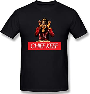 Men¡¯s Funny T-Shirt, Chief-Keef Cotton Crew Neck Short Sleeve T Shirt Black