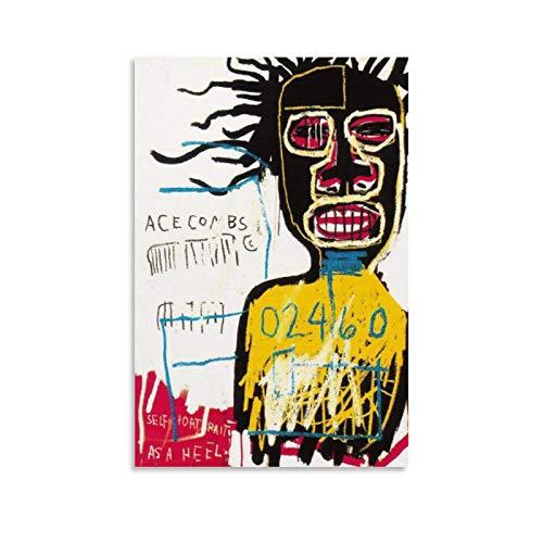 Poster décoratif sur toile représentant un talon de Jean Michel Basquiat - 50 x 75 cm