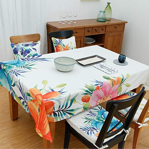 Aktives Bedrucken und Färben von Tischdecken aus Baumwolle und Leinen Gartentischdecke Kaffeetischdecke Nachttisch Staubtuch A 140x140cm