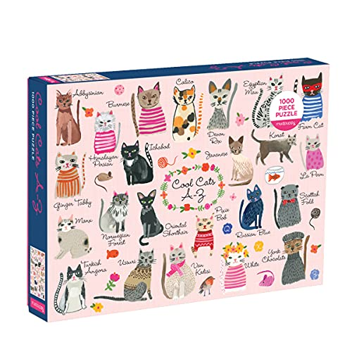 Puzzle - Cool Cats A-Z: 1000 Piece Puzzle