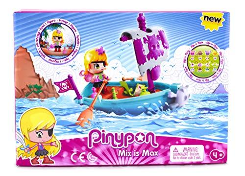 Pinypon: Bote Pirata con una figurita  Famosa