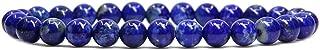 Handmade Gem Semi Precious Gemstone 6mm Round Beads Stretch Bracelet 7