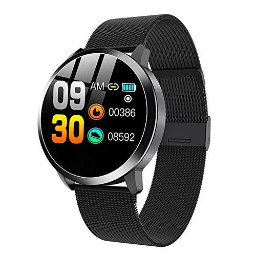 MYONLY Q8 Smart Watch OLED Color Screen Hombres Moda Fitness Tracker Monitor de frecuencia cardíaca Presión Arterial Pedómetro de oxígeno Smartwatch,A