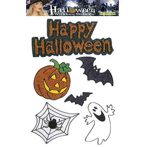 Widmann Sancto LIBROLANDIA 1167D VETROFANIE Happy Halloween Glitter ASSORTITE Costume