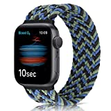 WNIPH Correas de reloj elásticas trenzadas compatibles con Apple Watch 38 mm 40 mm, banda de repuesto para iWatch Series 6/5/4/3/2/1/SE (38 mm/40 mm: #4 (muñeca de 144 mm-150 mm), color azul