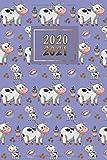 2020 - 2021: Terminplaner 17 Monate Terminkalender und Kalender 2020 2021 Wochenplaner und Monatsplaner von August 2020 bis Dezember 2021 Kuhfamilie und Kaffee