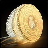 XUNATA 3m 220V Tiras LED, SMD 2835 120LEDs/m, IP67 Impermeable, Escalera de Techo Blancas Tira de LED Cocina Cable Luces LED...